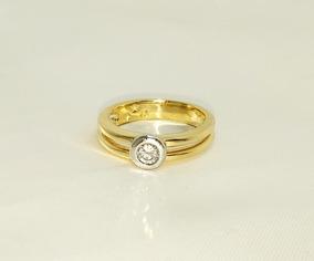 H.stern Anel Solitário De Ouro Amarelo 18k Diamante 20 Pts
