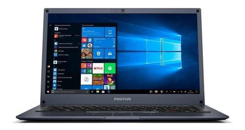 "Notebook - Positivo Q232b Atom X5-z8350 1.44ghz 2gb 64gb Híbrido Intel Hd Graphics Windows 10 Home Motion 14"" Polegadas"