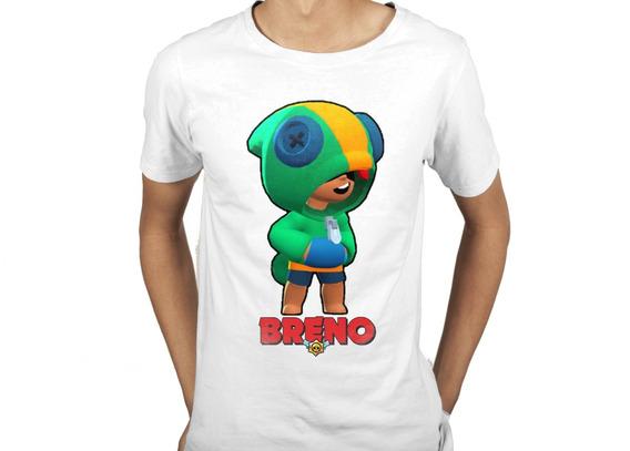 Camiseta Infantil Brawl Stars Leon Personalizada