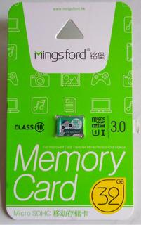Cartão Micro Sd 32gb Classe 10 Prova D