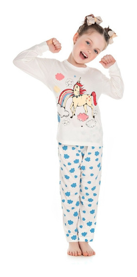 Pijama Infantil Bicho Bagunça Menina Unicórnio