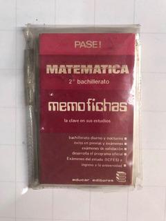 Memofichas Matematica 2 Bachille 1980 Usada