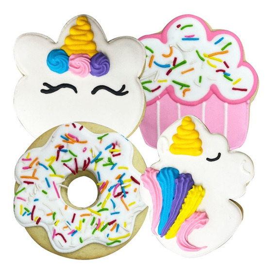 Galletas Mantequilla Decoradas Decocookies Unicornio 16 Pz
