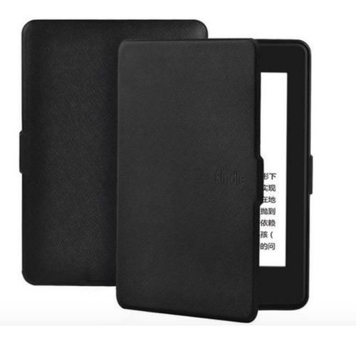Capa Couro P/ Amazon Novo Kindle Paperwhite 10ª Geração Preta