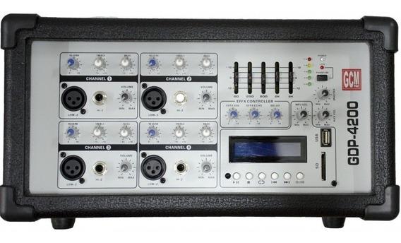 Consola Potenciada Gdp-4200 150w 4 Entradas Gcm Pro