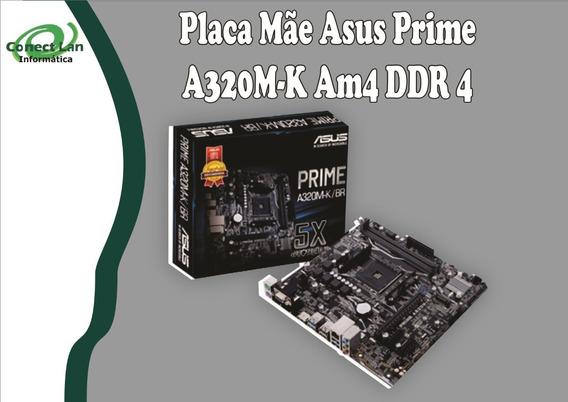 Placa Mãe Asus A320m-k Ddr4 Am4 Motherboard Pc Gamer Ryzen