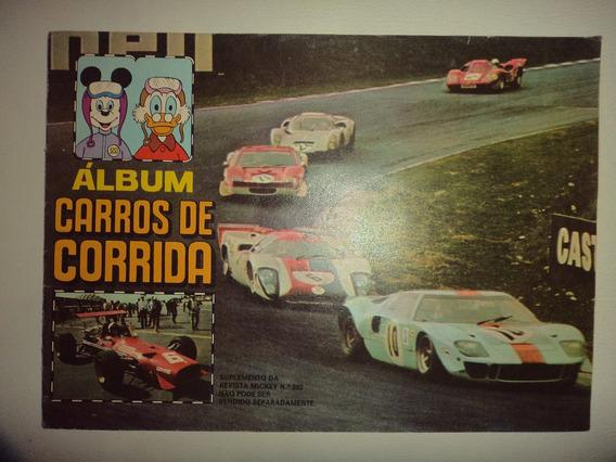 Album Carros De Corrida Editora Abril 1969 Incompleto Otimo