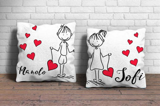 Almohadón San Valentín Personalizado