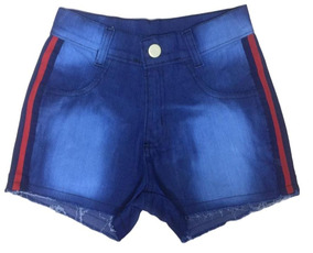 04 Short Jeans Feminino Desfiado Cintura Alta Roupas Atacado