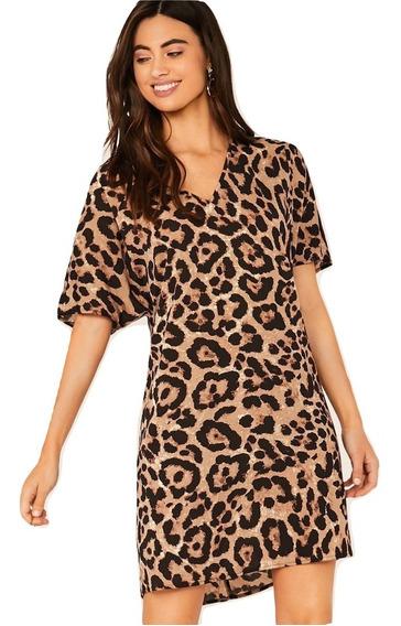 Vestido Casual Leopardo Vestidos Casuales Ropa Mujer