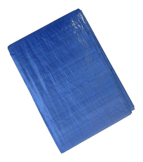 Lona Polietileno 8x6 Impermeável Camping Piscina Azul Leve