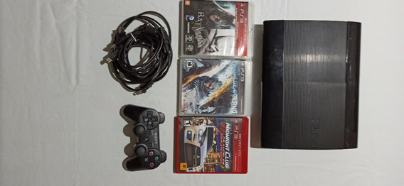 Video Game Ps3 Super Slim 250 Gb+jogos Fisicos
