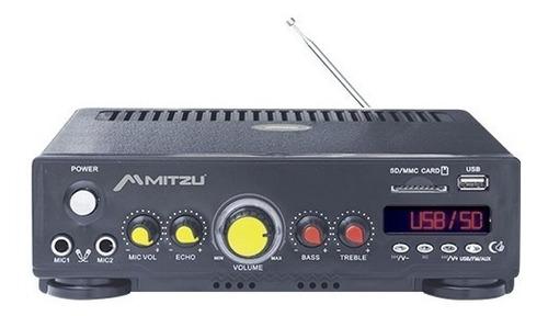 Imagen 1 de 4 de Amplificador Perifoneo Voceo Usb Fm Mp3 Karaoke 180w 620