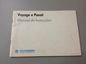 Manual Do Proprietário Voyage - Parati - 1988 1989 Original