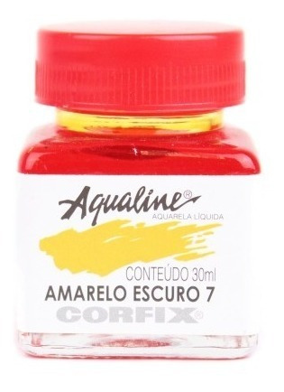 3x Aqualine Aquarela Líquida Aerograf Corfix 30ml Amarelo Es