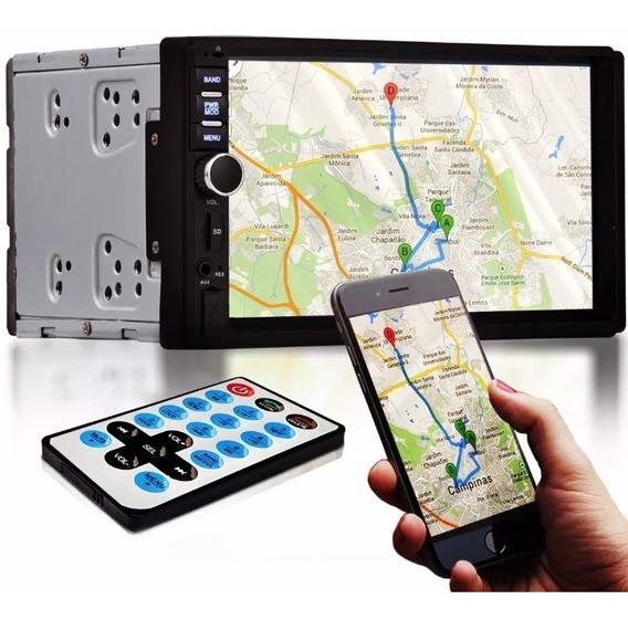 Central Multimídia Universal 2din 7 Bluetooth Espelhamemento