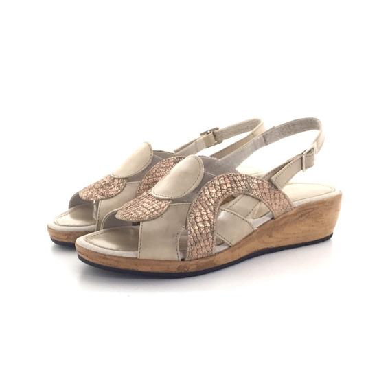 Penélope 2447 Sandalia Cuero El Mercado De Zapatos!!