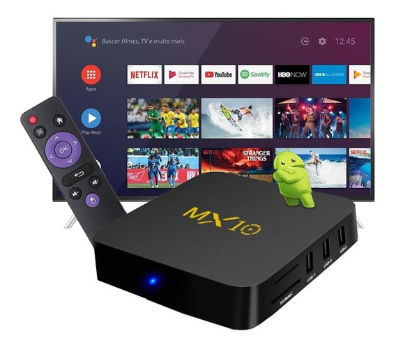 Tv Box Conversor Digital Para Tv Comum Roda Netflix Youtube