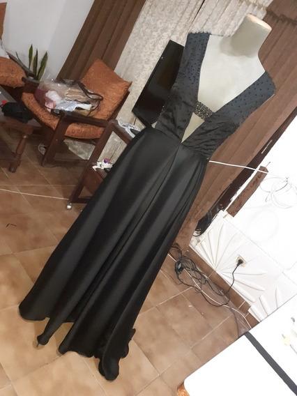Vestido De Noche En Cádiz Negro.