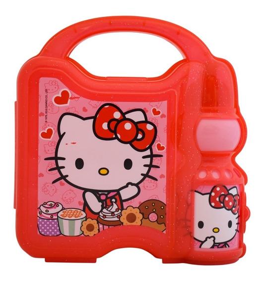 Lonchera Hello Kitty Sanrio Infantil Niña Botella Agua
