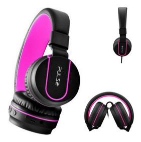 Fone De Ouvido Headphone Rosa E Preto Ph160 - Pulse