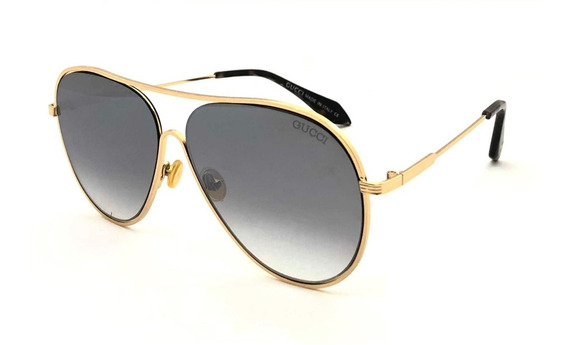Oculos Solar Feminino Premium Gg8025 Aviador Alumínio