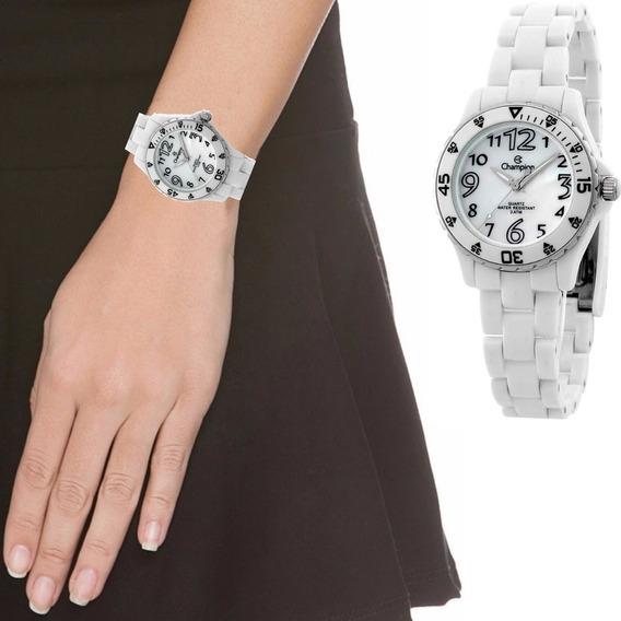 Relógio Champion Feminino Resistente Água Branco Cp28177b