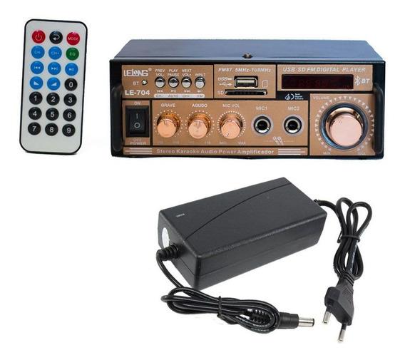 Mini Amplificador Bluetooth Módulo Karaoke E Fonte 12v Promo