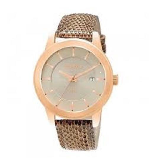 Relógio Feminino Dourado/couro Technos Original 2115klp/2k