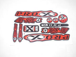 Adesivo Colante Bike Pro X Serie 4 Vermelho Cdg 889