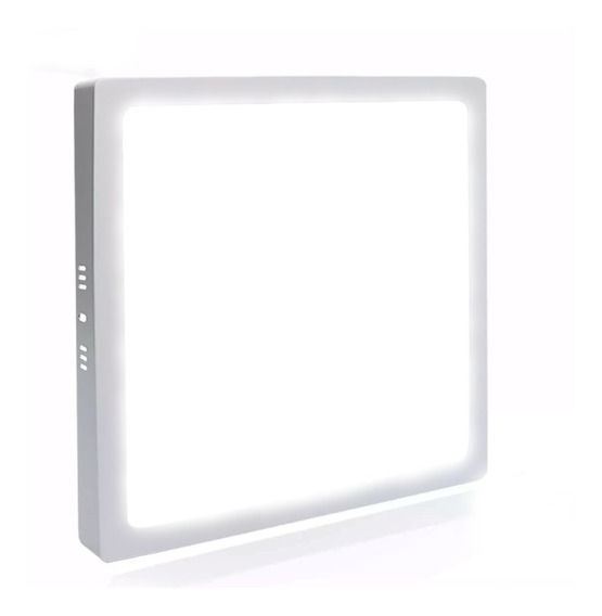 Painel Plafon 25w Led Quadrado Sobrepor Branco Frio Teto