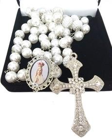 Terço De Noiva Prata Nossa Senhora De Fátima