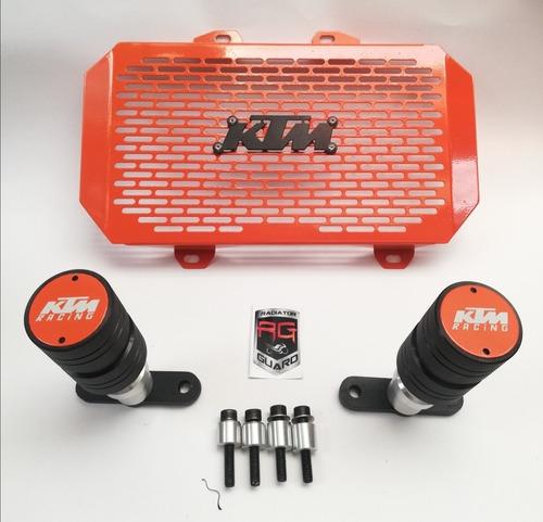 Defensas Duke 200 + Parrilla Radiador Ktm 200