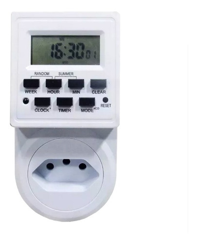 Timer Digital Lcd Programável Temporizador Tomada Bivolt