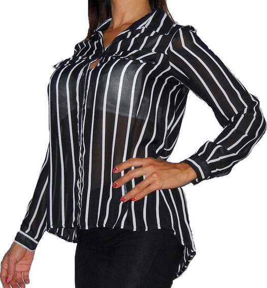 Camisa Gasa Elegante Comoda Oficina!!