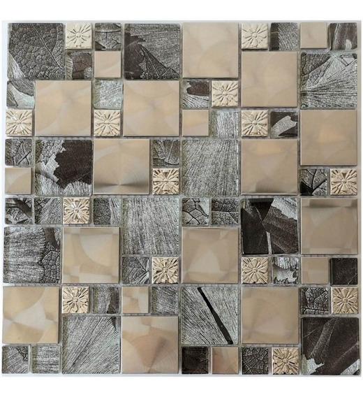 3 X Malla Mosaico Decorativa Cenefa Vidrio Aluminio Lisboa S