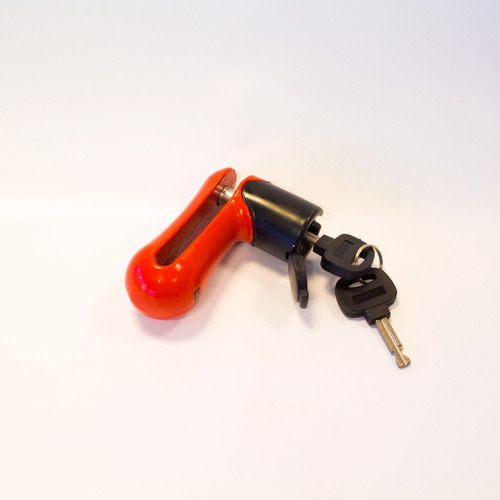Traba Disco Pm Security Rojo Seguridad Para Moto