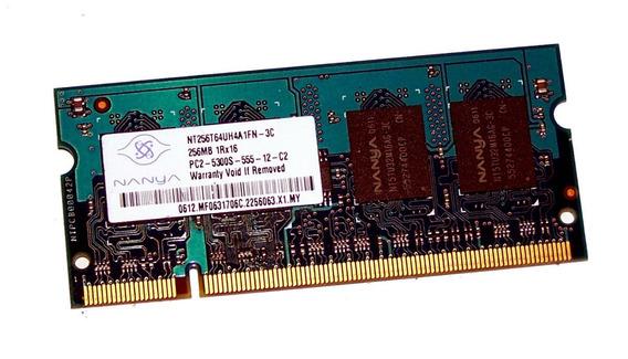 Memória 256 Mb - Hp (nanya) - Ddr2 - Pc2-5300s