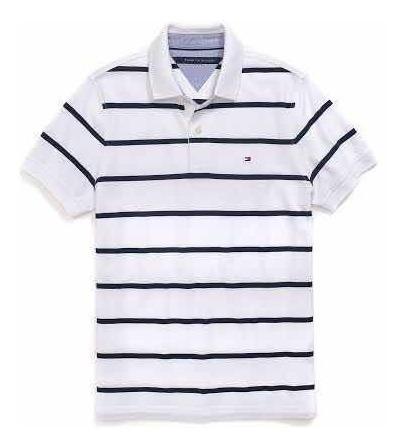 Playera Polo Tommy Hilfiger Rayada Hombre M Original 100%