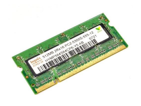 Kit C/ 2 Memórias So-dimm Ddr2-667 512mb Hynix