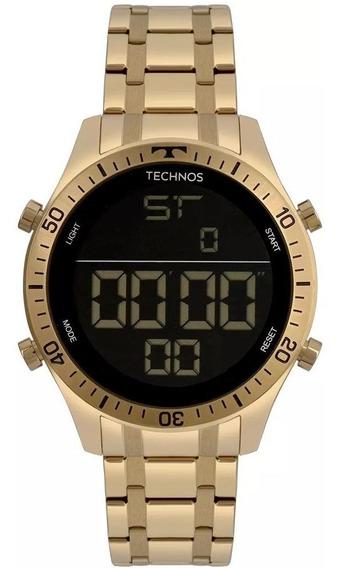 Relógios Masculinos Technos Racer Aço Dourado C/ N F + Garan