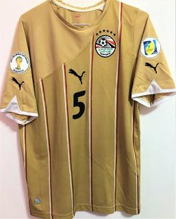 Camisa Egito Eliminatórias Copa 2014 Aboutrika #5 Completa