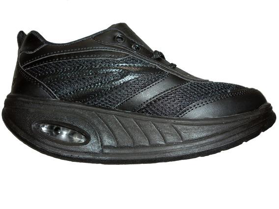 Tenis Fitness Step Suela Curva Maximo Comfort Negro Total
