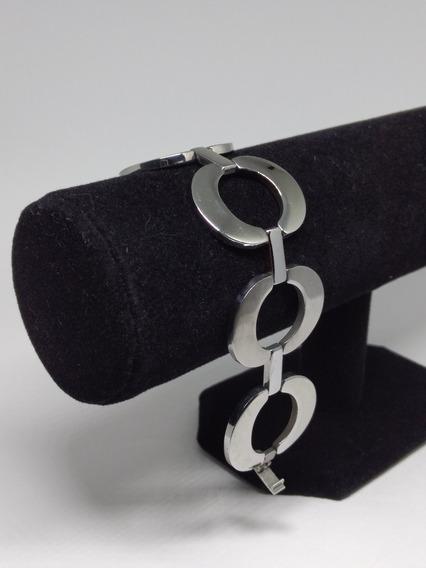 Pulseira Feminina Bracelete Folheado Ouro 18k Elos C834