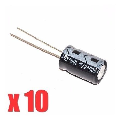 Capacitor Eletrolítico 47uf X 100v Driver Corneta 10 Unidade