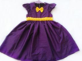 Vestido Infantil Tafetá