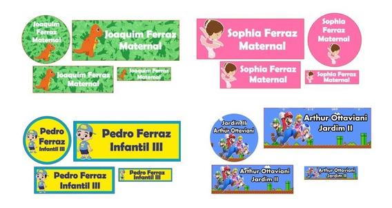 2 Kit Etiqueta Adesiva Personalizada Material Escolar+brinde