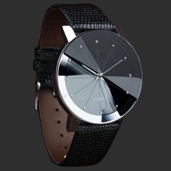 Relógio Masculino Social Luxo Barato Couro