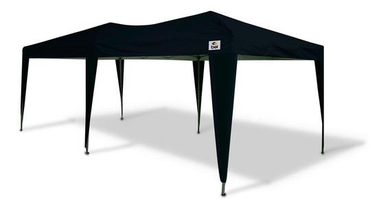 Tenda Gazebo Grande 3x6 Metros Dobrável Evento Camping Preto