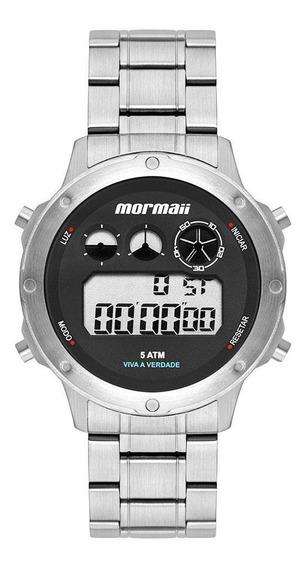 Relógio Masculino Mormaii Vibe Mobj3753aa/1p 42mm Aço Prata